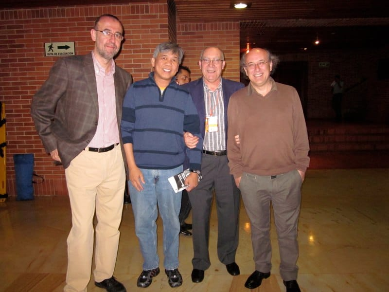 with Oscar Herrero, Jose Luis Rodrigo and Jose Miguel Moreno- Bogota, Colombia 2010