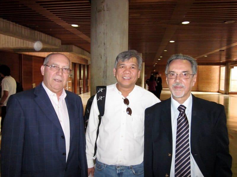 with Jose Luis Rodrigo and Eduardo Fernandez- Bogota, Colombia 2010