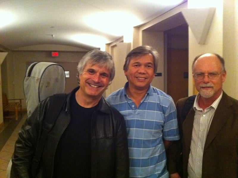 with Laurence Juber and Frank Koonce