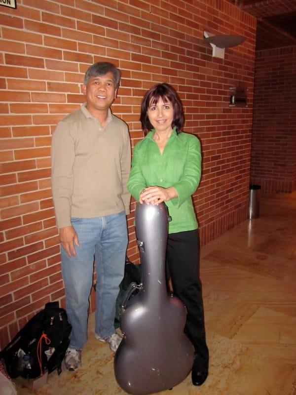 with Margarita Escarpa- Bogota, Colombia 2010