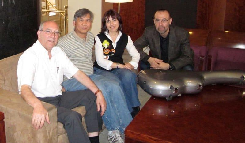 with Jose Luis Rodrigo, Margarita Escarpa and Oscar Herrero- Bogota,