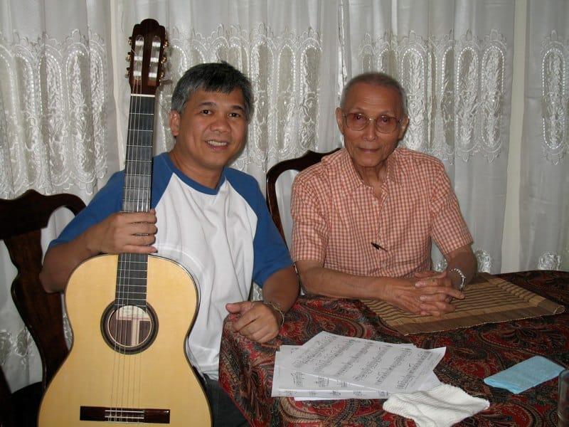 with Maestro Angel Peña 2006