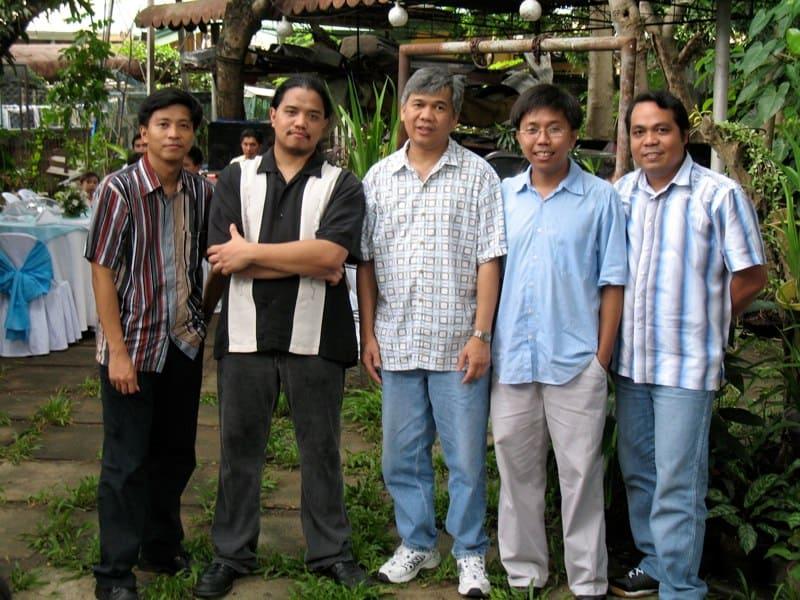 with the Kasilag Guitar Quartet, Manila 2006