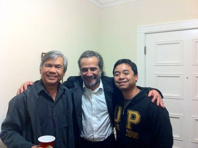 With Odair Assad and Filipino guitarist Ivar Fojas (Fulbright Scholar at UA)